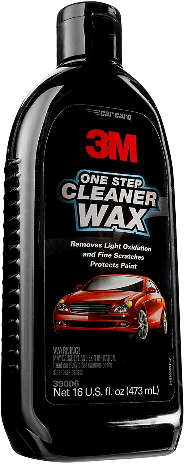 9 Best Swirl and Scratch Remover bottle or 3M One Step Cleaner Wax