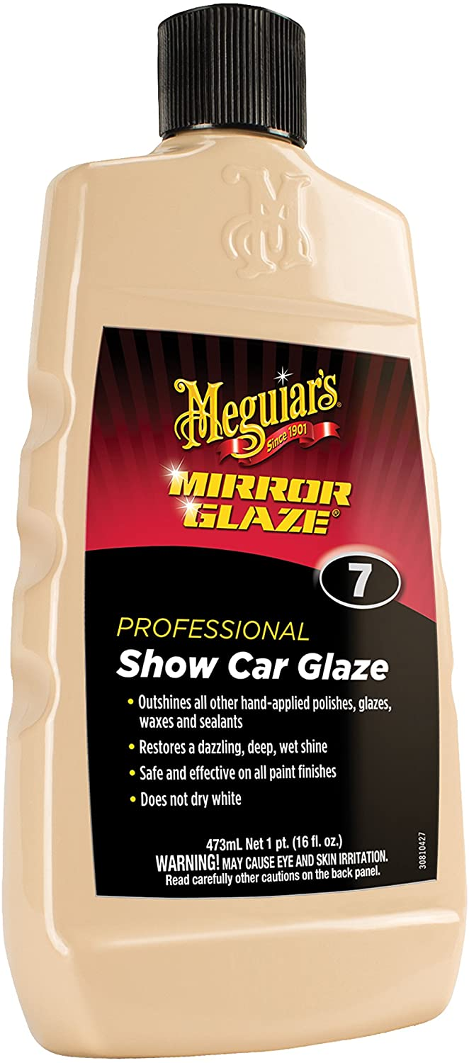 Bottle of Meguiars Mirror Glaze to Show it is one of the best swirl and scratch remover
