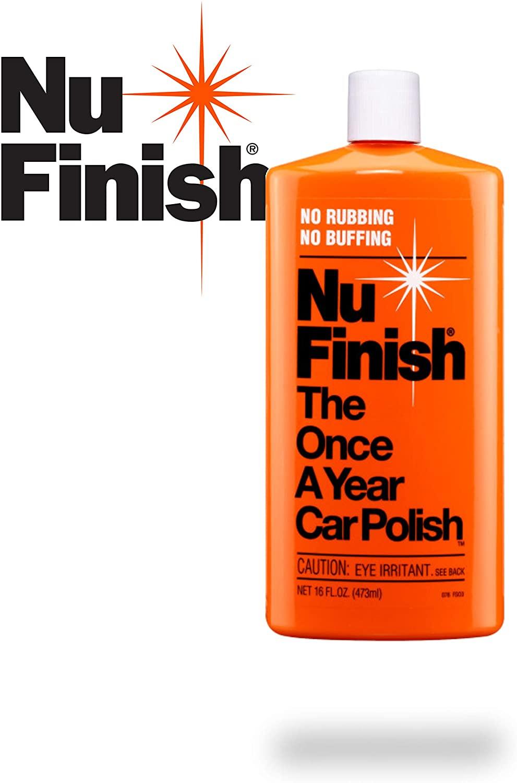 Orange Bottle of Nu Finish Car Wax Reviews